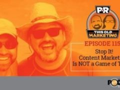 This Week in Content Marketing: Stop It! Content Marketing is NOT a Game of Traffic